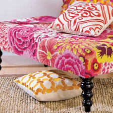 Tropical Footstools And Ottomans Mixed Bouquet Ottoman