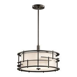 Kichler - Kichler 43373 Tremba 4-Bulb Indoor Pendant - Kichler 43373OZ Tremba Pendant / Semi-Flush Ceiling Light