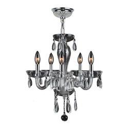 Worldwide Lighting - Worldwide Lighting W83127C16-CL Gatsby 5 Light Candle Style Crystal Chandelier - Features: