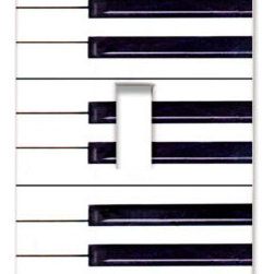 Piano Keys Switch Plate - Play it again, Sam! This piano plate cover strikes the right note with graphic appeal. It's perfect for a music room or themed playroom.