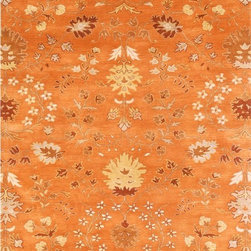 "Jaipur - Transitional Narratives 9'6""x13'6"" Rectangle Orange Spice-Orange Spice Area Rug - The Narratives area rug Collection offers an affordable assortment of Transitional stylings. Narratives features a blend of natural Orange Spice-Orange Spice color. Hand Tufted of 100% Wool the Narratives Collection is an intriguing compliment to any decor."