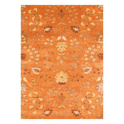 """Jaipur - Transitional Narratives 9'6""""x13'6"""" Rectangle Orange Spice-Orange Spice Area Rug - The Narratives area rug Collection offers an affordable assortment of Transitional stylings. Narratives features a blend of natural Orange Spice-Orange Spice color. Hand Tufted of 100% Wool the Narratives Collection is an intriguing compliment to any decor."""