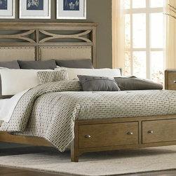 Queen Panel Storage Bed, Liberty -