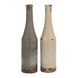 Exquisite and Classy Antique Themed Classy Ceramic Vases - Description: