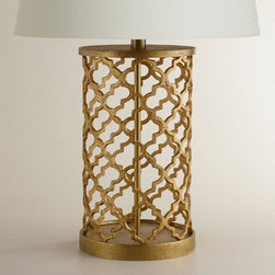 Distressed Gold Moroccan Table Lamp Base -