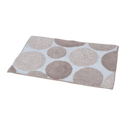 Prestige Cotton Bath Rug Melody Beige/White - This prestige cotton bath rug Melody is 100% cotton. Ultra-soft, deep, and inviting, this bath mat is a rug you can luxuriously sink your toes in and will give a sophisticated look to any bathroom. This beautiful bath rug features an eye-catching beige polka dot pattern. It provides a soft, cushioned feel, shock absorption and is durable. Manufacturer recommends using a nonskid pad beneath the rug (not included). Hand wash and no dryer. Indoor use only. Width 20-Inch and length 31.5-Inch. Color beige and white. Enhance your bathroom decor with this handsome prestige bath rug and add an understated elegance to your space. Imported.