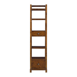 Stanley Furniture - Archipelago Ripple Cay Bookcase - Fathom Finish - The Ripple Cay Bookcase offers an attractive verticle display piece that can easily fit in small spaces. Made to order in America.