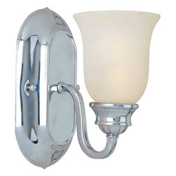 Maxim Lighting - Maxim Lighting 7135MRPC Essentials Polished Chrome Wall Sconce - 1 Bulb, Bulb Type: 100 Watt Incandescent