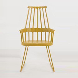 Kartell - Kartell | Comback Chair, Sled Base - Design by Patricia Urquiola.