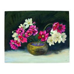 "Consigned Lousie Johnson Painting - Flowers in Bowl - This lovely still life by Louise Johnson titled ""Flowers in Bowl"" is sure to add a bright pop of color to any room! Painted in 1972. Signed on the bottom right. 19.5ʺW × 1.0ʺD × 15.5ʺH"