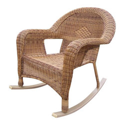 Oakland Living - Oakland Living Resin Wicker Rocker in Natural (Set of 2) - Oakland Living - Rocking Chairs - 90031RNT - About This Product:
