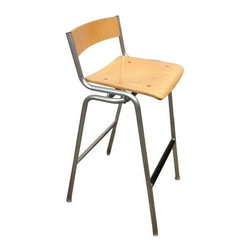 Maple & Steel Thonet Stools - Set of 3 - A clever set of three Thonet stools. Simple, clean design with just enough detail and craftsmanship. These stools are in great condition and would look excellent bellied up to your bar!