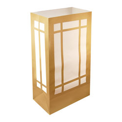 LumaBase Luminarias - Flame Resistant Luminaria Bags- 12 Count Lantern - Welcome guests with decorative traditional walkway luminarias. Brighten your walkway, entryway, sidewalk or patio for a special occasion. Just add a LumaBase water filled candle holder or sand and a candle. They add a decorative flair while lighting the way for guests. Included: 12 Flame Resistant Paper Bags