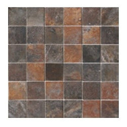 "Ascot Ceramiche - Ascot Ceramiche Fossil Red 2"" x 2"" Mosaic - The Atlas Concorde Fossil Collection is a high quality Italian line with a distinct aged look.'."