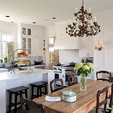 Kitchen Designs: Beautiful White Traditional Kitchen Design, Contemporary Touch,