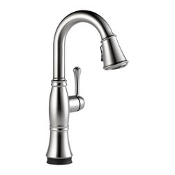 Delta Single Handle Pull-Down Bar/Prep Faucet with Touch2O(R) Technology - 9997T - Classical design meets modern technology with a clean and simple silhouette.