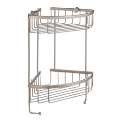 Smedbo - Sideline 2 Level Corner Soap Basket in Brushed Nickel Finish - Produced in Solid Brass it will never rust. 13.5 in. H