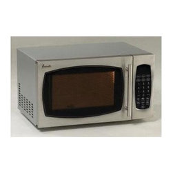 Avanti - 0.9CF 900 W Microwave Stainless Steel Oven Broiler - Avanti MO9003SST 0.9 Cubic Foot Microwave Oven with Stainless Steel finish