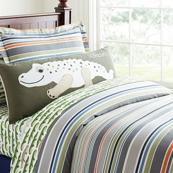 Jeremy Duvet Cover - Sleep under stripes. This versatile design is one he'll love for years to come.