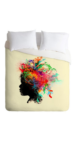 DENY Designs - Budi Kwan Wildchild Duvet Cover - Turn your basic, boring down comforter into the super stylish focal point of your bedroom. Our Luxe Duvet is made from a heavy-weight luxurious woven polyester with a 50% cotton/50% polyester cream bottom. It also includes a hidden zipper with interior corner ties to secure your comforter. it's comfy, fade-resistant, and custom printed for each and every customer.