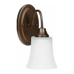 Sea Gull Lighting - 1-Light Wall / Bath Bell Metal Bronze - 49806BLE-827 Sea Gull Lighting Holman 1-Light Wall / Bath with a Bell Metal Bronze Finish