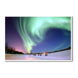 PosterEnvy - Aurora Over Alaska - NEW World Travel Artwork Poster - Aurora Over Alaska - NEW World Travel Artwork Poster