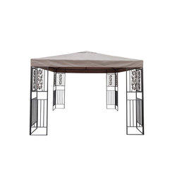 Great Deal Furniture - Manchester Outdoor Steel Gazebo Canopy, Brown - The Manchester Gazebo adds a luxurious touch to any outdoor living area. The polyester covering offers the perfect shade solution while maintaining a clean and sophisticated look. The steel frame holds an intricate yet open pattern that complements the overarching feel of the gazebo. The Manchester Gazebo is a perfect setting over outdoor spas, or can be used as a focal point in your backyard or garden.