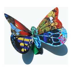 Spring Butterfly Sculpture and Coin Bank - Get those creative juices flowing with a whimsical cardboard butterfly coin bank. Complete with glue, stencils and colorful paper, this set will have you designing like a pro. It's a fun project for the whole family to get in on.
