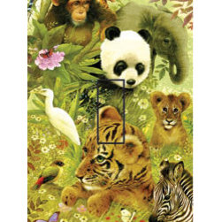 IdeaStix - Vanishing Species Single Toggle Peel and Stick Switch Plate Cover - SwitchStix transforms an ordinary switch plate into beautiful art decorations.  Made from proprietary rubber-resin, Premium SwitchStix Peel and Stick Decor offers a quick and easy solution for decorating plain switch plates.  With features like water/heat/steam-resistant, nontoxic, washable, removable and reusable, it is ideal for any room in the house or office.  SwitchStix fits standard size switch plates and applies right over the switch plate and it even covers the screw holes.  Suitable for standard size non-porous and smooth switch plates.  Discard mid-section for toggle switch placement.  Surface can be washed with most household cleaning products.