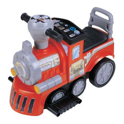 New Star - New Star My First Train Battery Powered Riding Toy - Red Multicolor - NS-872 RED - Shop for Tricycles and Riding Toys from Hayneedle.com! This adorable train is going to be a favorite at your station. The New Star My First Train Battery Powered Riding Toy Red moves forward backward left and right at a safe speed and uses an easy rechargeable 6-volt battery. Playtime: 1-2 hours.