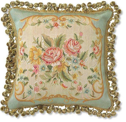 Eclectic Decorative Pillows by Needlepoint Pillows