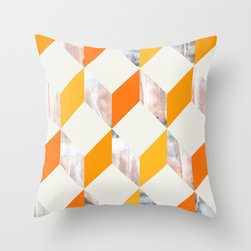 Orange Zigzag Throw Pillow by Pattern Paint - Pump up the orange spice of the season with a bold print. A pair of these would be gorgeous on my sofa.