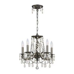 Crystorama Lighting - Crystorama Lighting 5545-PW-CL-S Gramercy Traditional Mini Chandelier in Pewter - Crystorama Lighting 5545-PW-CL-S Gramercy Traditional Mini Chandelier In Pewter With Clear Swarovski Elements Crystal