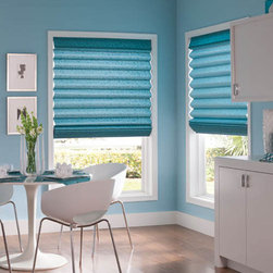 Bali - Bali Casual Classics Roman Shades: Verdant - The Verdant collection features textured, elegant leaf and stem patterns.  Casual Classics Roman shades offer the softness of a drapery with the practicality of a shade.