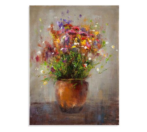 Bassett Mirror - Bassett Mirror Hand-Painted Canvas, Copper Vase - Copper Vase