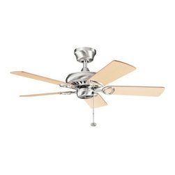 "Kichler - Kichler 337013BSS Sutter Place 42"" Indoor Ceiling Fan 5 Blades - 4.5"" Downrod - Included Components:"