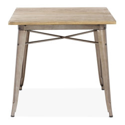 Zuo Modern - Zuo Modern Titus Modern Era Dining Table X-421901 - This table has a solid reclaimed wood top with a solid steel frame in a faux rust galvanized steel finish.