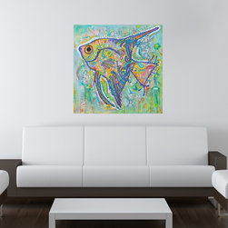 My Wonderful Walls - Angel Fish Wall Sticker - Decal, Large - - Angel Fish graphic by Dean Russo