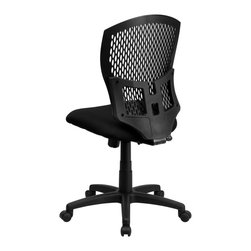 Flash Furniture - Flash Furniture Office Chairs Plastic Back Office Chairs X-GG-KB-GYS8593-LW - This contemporary Designer Back Office Chair features a perforated plastic back and will keep you cool and comfortable throughout the day. This chair features a back tilt lock and pneumatic seat lift. [WL-3958SYG-BK-GG]