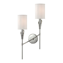 HUDSON VALLEY LIGHTING - Hudson Valley Lighting Tate-Wall Sconce Polished Nickel - Free Shipping