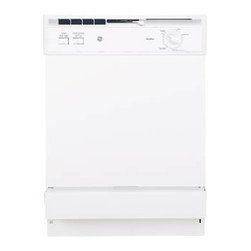 GE - GE Space Maker Undersink Dishwasher - SureClean wash system with 4 wash level power scrub wash system. Heated dry on/off option, Space Maker upper rack, deluxe lower rack, deluxe silverware basket, trimless door design.