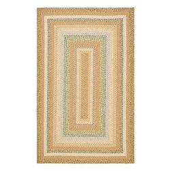 Safavieh Braided BRD314A Tan Area Rug - Safavieh Braided BRD314A Tan Area Rug