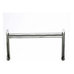 Top Knobs - Top Knobs: Hopewell Bath 24 Inch Single Towel Rod - Polished Nickel - Top Knobs: Hopewell Bath 24 Inch Single Towel Rod - Polished Nickel
