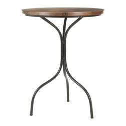 Safavieh - Francesco Side Table - The Francesco Side Table's sinuous lines and svelte metal legs entice the eye, but its sturdy copper-toned wood top seals the deal. Ideal for interiors that exude soft, modern glamour with a minimalist's attention to detail.