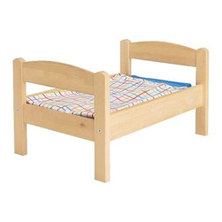IKEA of Sweden - DUKTIG Doll bed with bedlinen set - Doll bed with bedlinen set, pine, multicolor