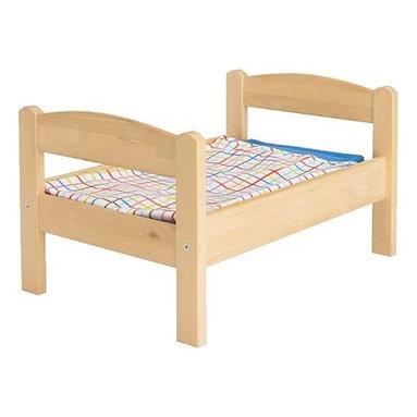 IKEA of Sweden - DUKTIG Doll bed with bedlinen set - Doll bed with bedlinen set, pine, multicolor