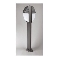 """PLC Lighting - Synchro Pole Light - Features: -Two light pole light. -Synchro collection. -Available in architectural bronze, architectural silver or white finish. -Die cast aluminum construction. -Opal acrylic glass. -Suitable for wet location. Specifications: -120 Volts. -Accommodates (2) 60W A19 bulb (not included). -Overall dimensions: 39.5"""" H x 11"""" W."""