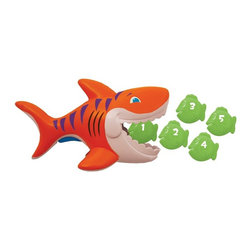 SwimWays - SwimWays Gobble Gobble Guppies Pool Toys Multicolor - 12031 - Shop for Toys from Hayneedle.com! Be on the watch for the SwimWays Gobble Gobble Guppies Pool Toys because he is hungry. Providing endless hours of entertainment this shark is ready to gobble up those guppies with the help of your child. Just squeeze the trigger of this impact-resistant shark to open those jaws wide and release to chomp down. There are five guppies included so you gotta catch 'em all for a summer full of fun. Designed for kids two and up.About SwimWays Based in Virginia Beach Virginia SwimWays has one mission: make free time more fun through innovation. They provide your family with pool toys floats decorations games and even swim training gear to make sure you have no ordinary day at the pool. With over 35 000 storefronts and offices in Hong Kong and the United States SwimWays diverse staff is dedicated to bringing you the best. Safety is their priority helping to teach kids to swim for over 40 years with an innovative line of swim-training products. SwimWays is here to help and stands by their products every step of the way.
