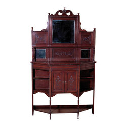 Antiques - Antique English Walnut Dresser Chiffonier Etagere Whatnot - Country of Origin: England