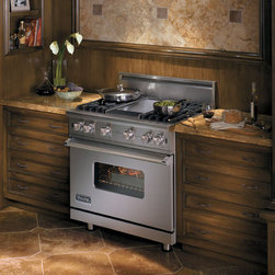 "Viking Professional Series VGCC5366BSS 36"" Custom Sealed Burner Range -"